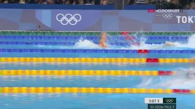 Tokio. Pływanie: sensacyjne zwycięstwo Tunezyjczyka Hafnaoui'ego