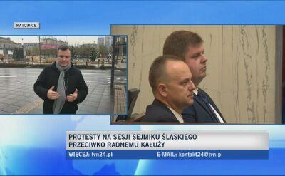 Wyborcy żądali, by Wojciech Kałuża oddał mandat radnego