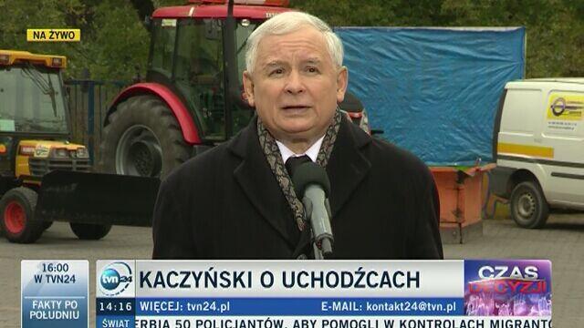 Jarosław Kaczyński broni słów o zagrożeniu ze strony uchodźców