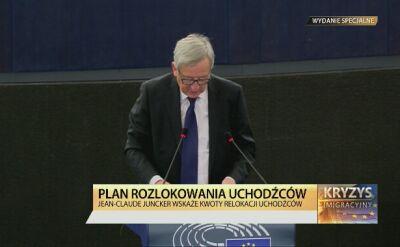 Juncker przed Parlamentem Europejskim