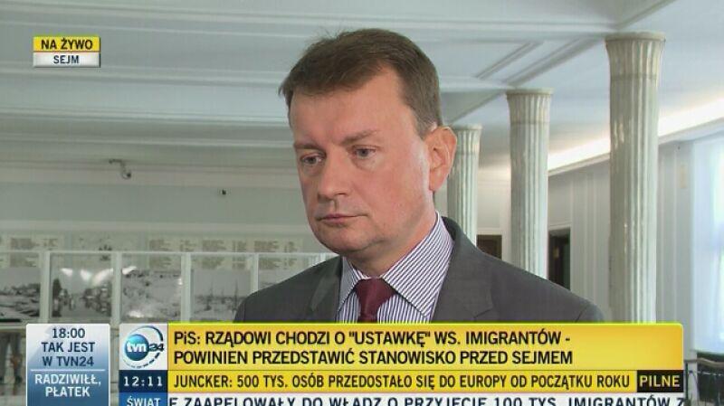 Mariusz Błaszczak o problemie uchodźców: Polityka multi-kulti poniosła porażkę