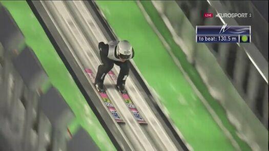Skok Piotra Żyły z 1. serii konkursu w Sapporo