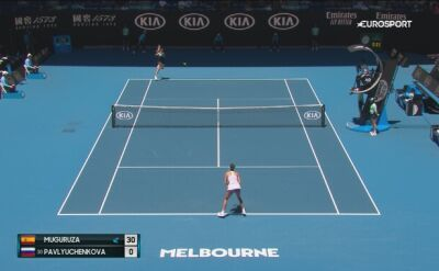 Skrót meczu Muguruza - Pawluczenkowa w 1/4 finału Australian Open