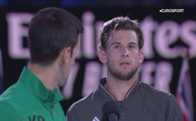 Novak Djoković emocjonalnie po finale Australian Open