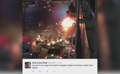 Wybuch w Bangkoku. Co najmniej 12 osób nie żyje
