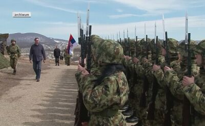 Serbska armia ćwiczy pod Belgradem (marzec 2018)