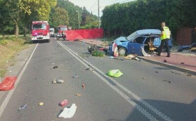 Samochód uderzył czołowo w motorower