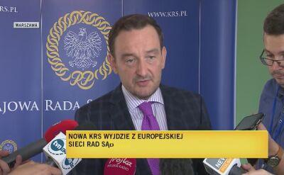 Rzecznik nowej KRS: jestem za pozostaniem w Europejskiej Sieci Rad Sądownictwa