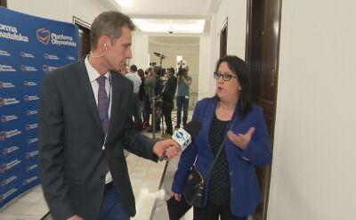 Czerwińska: znaliśmy, że należy to przekonsultować w szerokim gronie