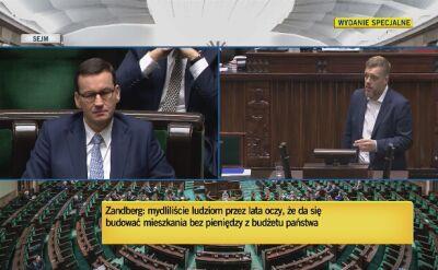 Zandberg: Nie dotrzymaliście słowa w sprawie reprywatyzacji