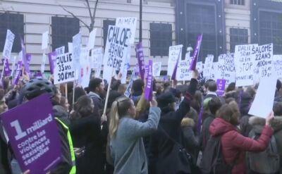 W Paryżu kilkadziesiąt tysięcy osób na marszu przeciw przemocy wobec kobiet