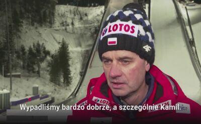 Stefan Horngacher po konkursie w Lahti