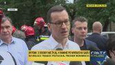 Premier Mateusz Morawiecki na miejscu tragedii w Bytomiu