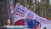 Maryna Gąsienica-Daniel z najlepszym czasem 2. przejazdu slalomu giganta