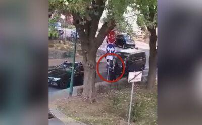 Oświęcim: nieznane dotąd nagranie z Dudą z miejsca wypadku
