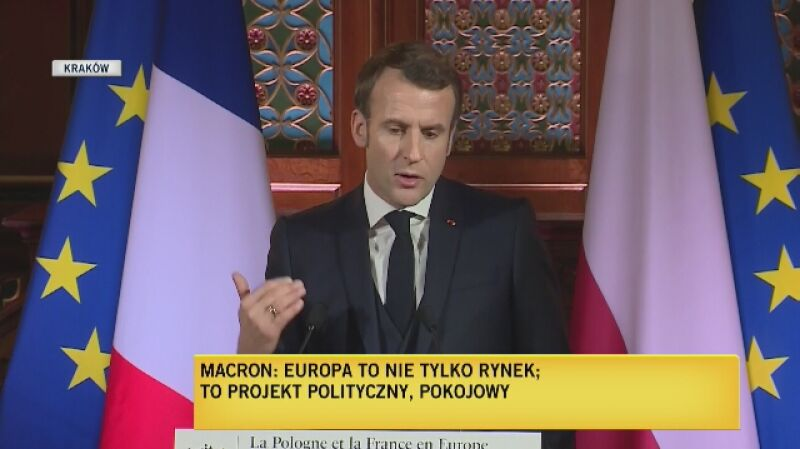 Macron: wolności takie jak niezależność wymiaru sprawiedliwości są sednem Europy