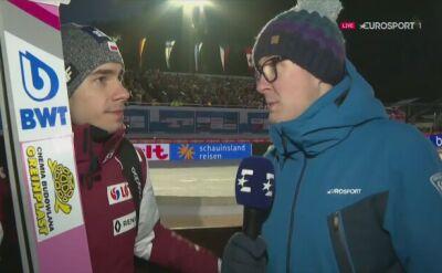 Jakub Wolny po sobotnim konkursie w Willingen