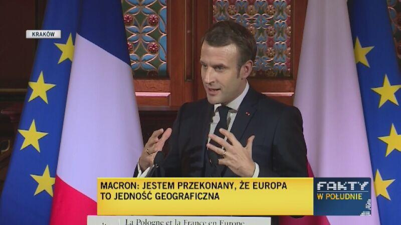 Macron o jedności geograficznej