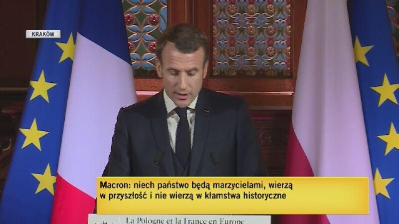 Macron: nie bójcie się Europy, nie bójcie się w nią angażować