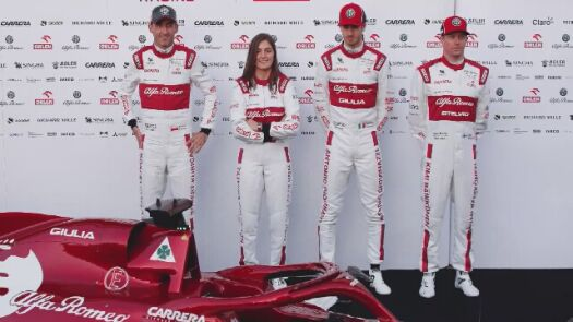 Kubica testuje bolid Alfa Romeo Racing Orlen