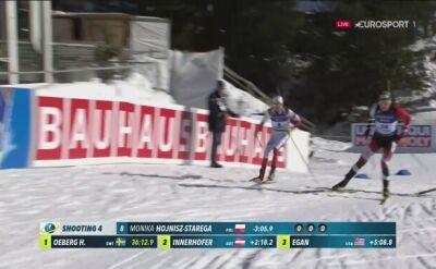 Monika Hojnisz-Staręg pudłuje w ostatnim strzelaniu biegu na 15 km