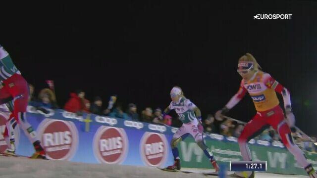 Therese Johaug wygrała sprint techniką dowolną w Aare