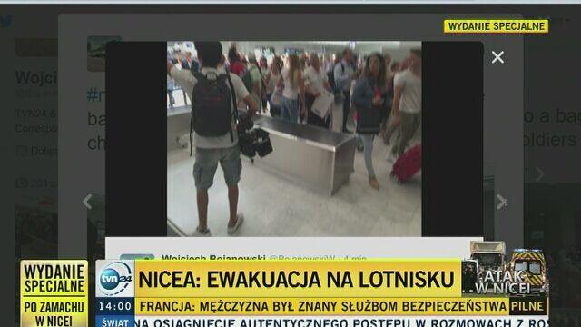 Ewakuacja części lotniska w Nicei