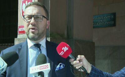 Wiceminister spraw zagranicznych o ataku w Syrii