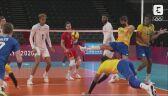Tokio. Siatkówka: niesamowita akcja i obrona nogą w meczu Brazylia - Francja