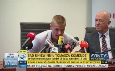 - Byłem kozłem ofiarnym - mówił Tomasz Komenda