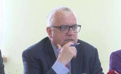 Wiceprezes PiS Adam Lipiński podczas spotkania z wyborcami