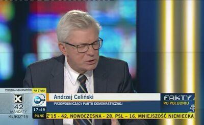 Celiński: to pozytywne, że PiS będzie miało samodzielny rząd