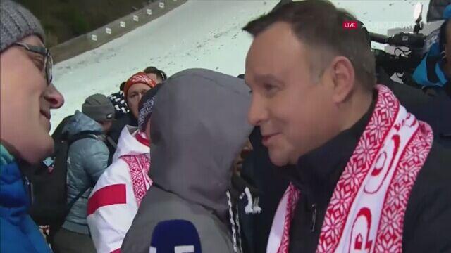 Prezydent Andrzej Duda po konkursie drużynowym