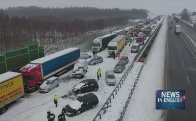 Dangerous road conditions in many parts of Poland