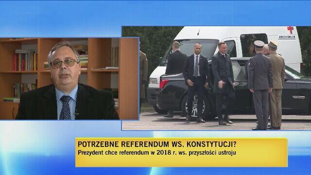 """Dr Ryszard Balicki z Uniwersytetu Wrocławskiego w """"Dniu na Żywo"""" TVN24"""