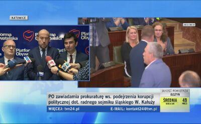 Zdaniem PO, przejście Kałuży do PiS było korupcją polityczną