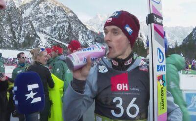 Piotr Żyła zadowolony po trzecim miejscu w Planicy