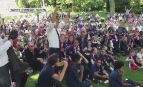 Macron oglądał mecz Francja-Urugwaj