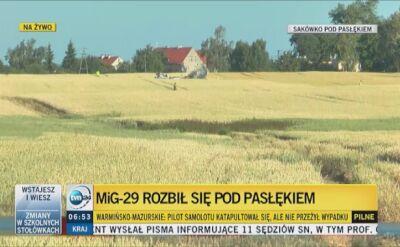 Major rezerwy Michał Fiszer o katastrofie samolotu