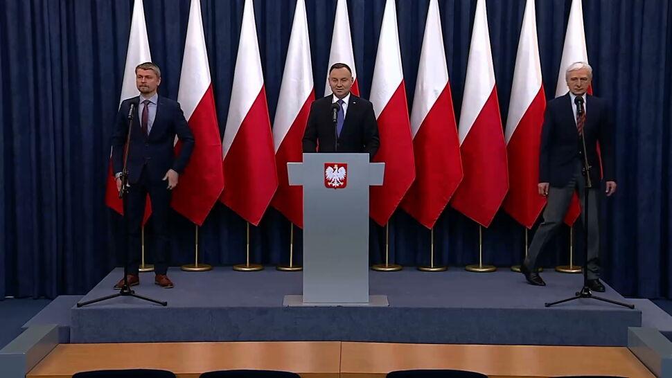 Duży spadek poparcia dla Andrzeja Dudy. Aż 20 punktów w dół