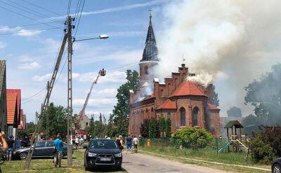 Pożar kościoła w Lutolu Suchym. Nikt nie ucierpiał