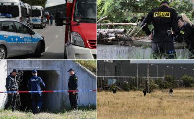 Policjanci wrócili w rejon węzła Konotopa. Wypompowują wodę ze studni, przekopują ziemię