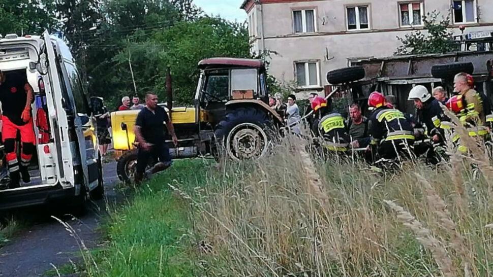 Tragiczny wypadek na Dolnym Śląsku. Przyczepa przygniotła 10-latka
