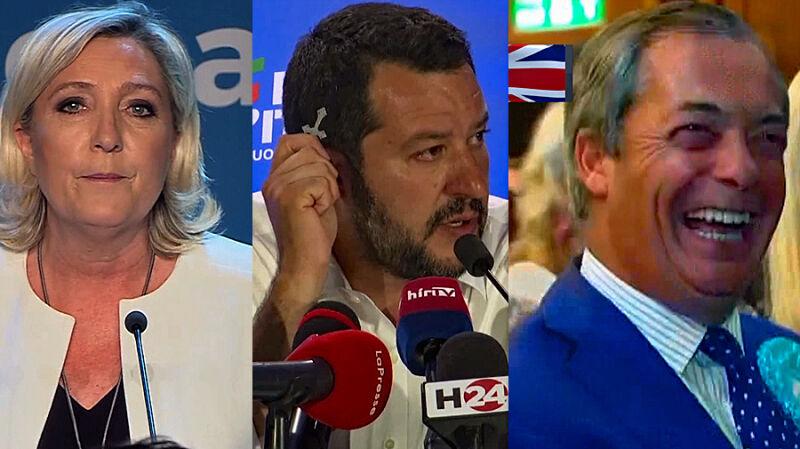 Triumf prawicy. Marine Le Pen i Matteo Salvini zwyciężają w swoich krajach