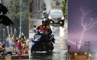 Alerty pogodowe. Jeszcze większe upały, burze, a nawet trąby powietrzne