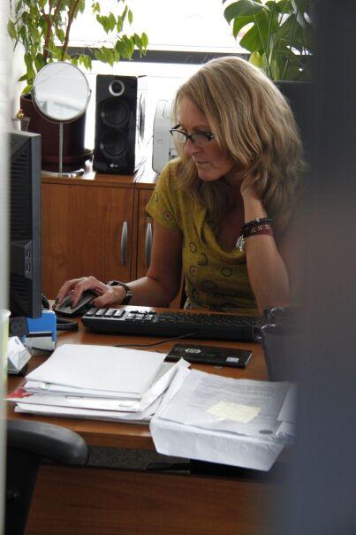Marzanna Zielińska w łódzkim studiu Faktów TVN