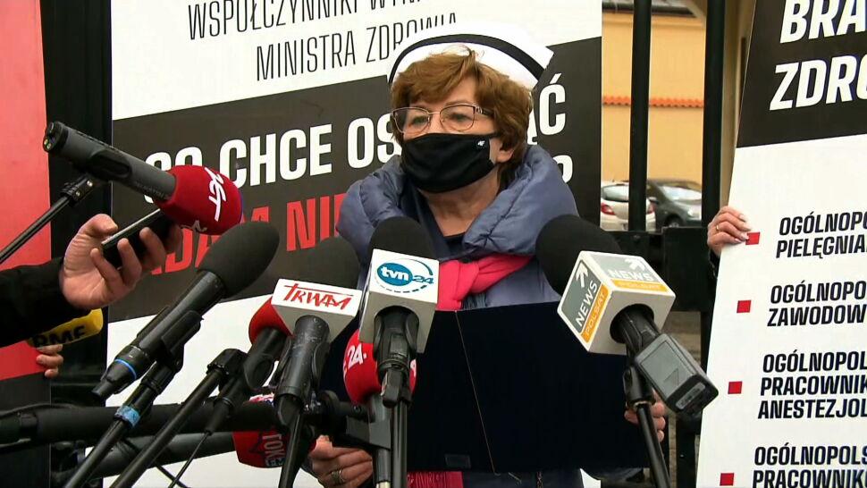 """""""Nie ma nic bez lekarza, bez diagnosty, bez farmaceuty"""". Protest medyków w Warszawie"""