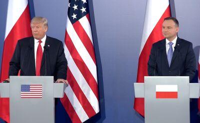 Wystąpienie Donalda Trumpa na konferencji na Zamku Królewskim