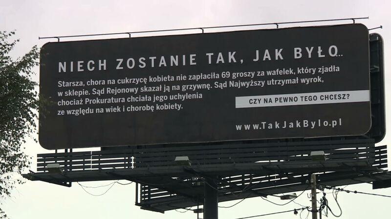 """Spór wokół akcji billboardowej """"Sprawiedliwe sądy"""". PiS: to kampania informacyjna"""