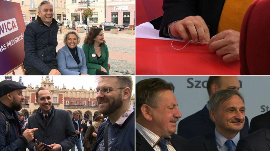 Symboliczne zszywanie Polski i ostatnie spotkania z wyborcami. Przedostatni dzień kampanii